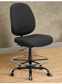 Hercules Extra-Wide Fabric Drafting Chair – Rounded Back