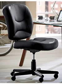 LivingXL Vinyl Office Task Chair with Gas Lift