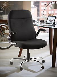 LivingXL Extra-Wide Lift-Up Arm Office Chair with Gas Lift