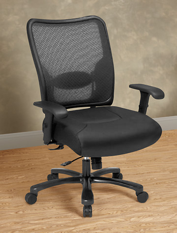 Big & Tall Office Star SPACE Mesh Big amp Tall Office Chair with Leather Seat