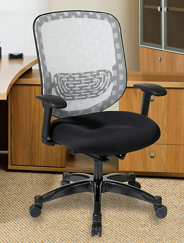 Big & Tall Office Star DuraFlex Mesh Office Chair with Padded Seat
