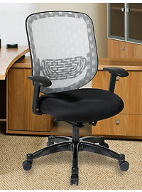 Office Star DuraFlex Mesh Office Chair with Padded Seat