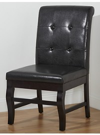 LivingXL Extra-Wide Faux-Leather Parsons Chair