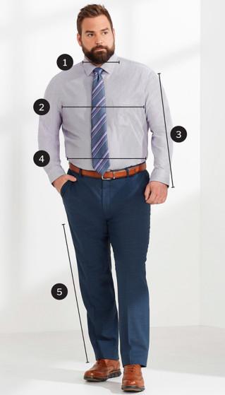 Size Charts | Men's Big & Tall | DXL
